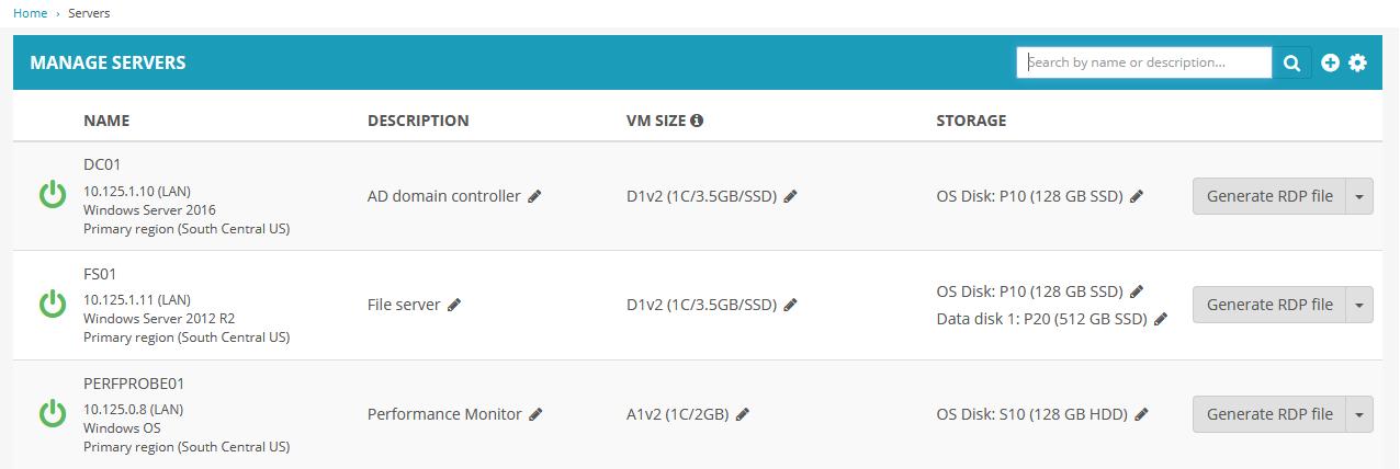 Overview of Servers module – Nerdio Help Center